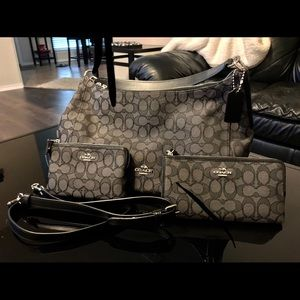 Authentic COACH Black and Grey Purse